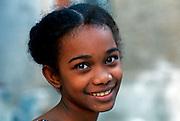 KENYA, LAMU ISLAND young Swahili girl in town on Lamu Island