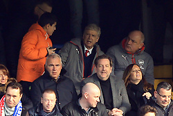 4 February 2017 - Premier League - Chelsea v Arsenal - Arsene Wenger manager of Arsenal appears to decline a young fan asking for a photo - Photo: Marc Atkins / Offside.