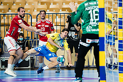 David Razgor of RK Celje Pivovarna Lasko during handball match between RK Celje Pivovarna Lasko (SLO) and Aalborg Handbold (DEN) in Group Phase B of EHF Champions League 2020/21, on 16 September, 2020 in Arena Zlatorog, Celje, Slovenia. Photo by Grega Valancic / Sportida