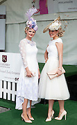 30/07/2015 report free : Winners Announced in Kilkenny Best Dressed Lady, Kilkenny Best Irish Design & Kilkenny Best Hat Competition at Galway Races Ladies Day <br /> From Left at the event were  Lynda Morrison Kildare Dublin and with Annemarie Corbet, Michelstown<br /> Photo:Andrew Downes, xposure