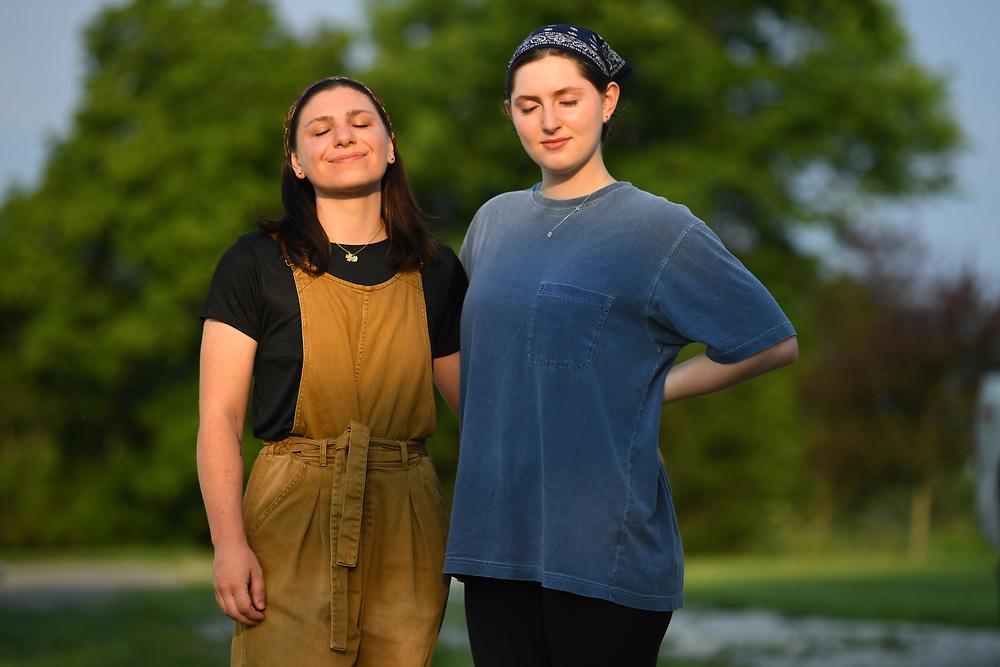 7/6/20 6:53:19 AM  -- Shai Bardin and Carolyn Rogers --    Photo by Jack Gruber