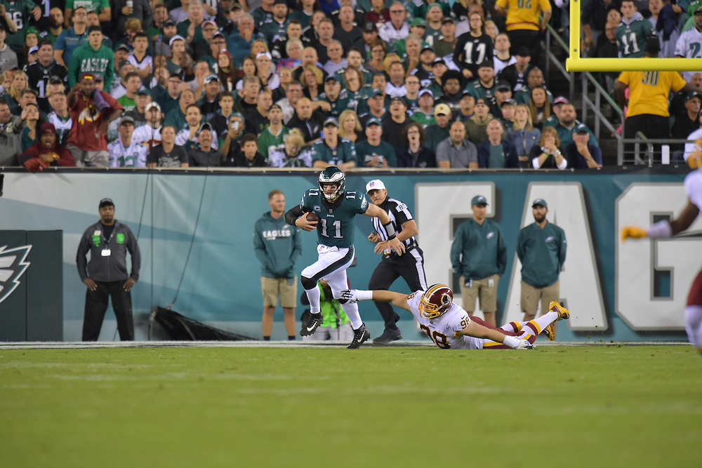 The Philadelphia Eagles beat the Washington Redskins 34-24 at Lincoln Financial Field on October 23, 2017 in Philadelphia, Pennsylvania. (Photo by Drew Hallowell/Philadelphia Eagles)