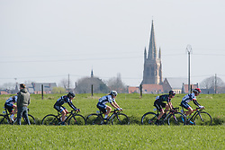 Lotta Lepsitö well postioned in the opening lap at Women's Gent Wevelgem 2017. A 145 km road race on March 26th 2017, from Boezinge to Wevelgem, Belgium. (Photo by Sean Robinson/Velofocus)