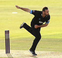 Sussex's Michael Yardy bowls - Photo mandatory by-line: Robbie Stephenson/JMP - Mobile: 07966 386802 - 19/06/2015 - SPORT - Cricket - Southampton - The Ageas Bowl - Hampshire v Sussex - Natwest T20 Blast