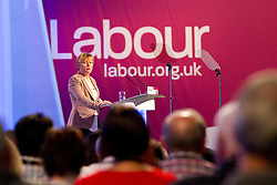 © Licensed to London News Pictures. 30/09/2012. Manchester, UK . Angela Eagle speaks from the podium . Labour Party Conference Day 1 at Manchester Central . Photo credit : Joel Goodman/LNP