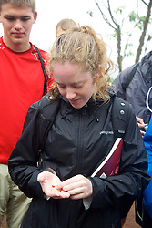 Maggie LoBianco Checking Out Seeds, Santa Cruz Island