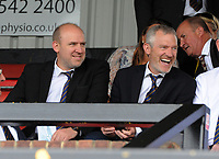 Football - 2018 / 2019 Vanarama National League - Sutton United vs. Salford City<br /> <br /> Vine Brothers, Tim ( Comedian) and Jeremy (BBC Radio show presenter) right, watch the match at Gander Green Lane.<br /> <br /> COLORSPORT/ANDREW COWIE