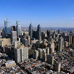 Aerial view of the Philadelphia Skyline