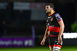 Dragons' Ben Roach<br /> <br /> Photographer Craig Thomas/Replay Images<br /> <br /> EPCR Champions Cup Round 4 - Newport Gwent Dragons v Newcastle Falcons - Friday 15th December 2017 - Rodney Parade - Newport<br /> <br /> World Copyright © 2017 Replay Images. All rights reserved. info@replayimages.co.uk - www.replayimages.co.uk