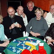 Winnaars Varilux bridge beker vlnr Wil van Dijk, Cees Pellikaan, Frans van der Knaap, captain Ruud Biesterveld,  Jacqueline Verhaeven, Paul de Beurs, Els van Ham