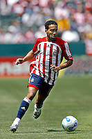 20 May 2007: Chivas forward Maykel Mendoza dribbles the soccer ball during a 1-1 tie for MLS Chivas USA vs. Los Angeles Galaxy pro soccer teams at the Home Depot Center in Carson, CA.