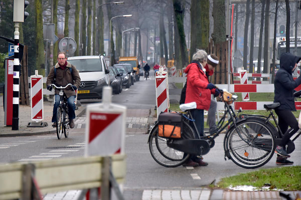 Nederland, Nijmegen, 15-2-2018Herinrichting, reconstructie en onderhoud aan de Oranjesingel.Foto: Flip Franssendgfoto editie nijmegen