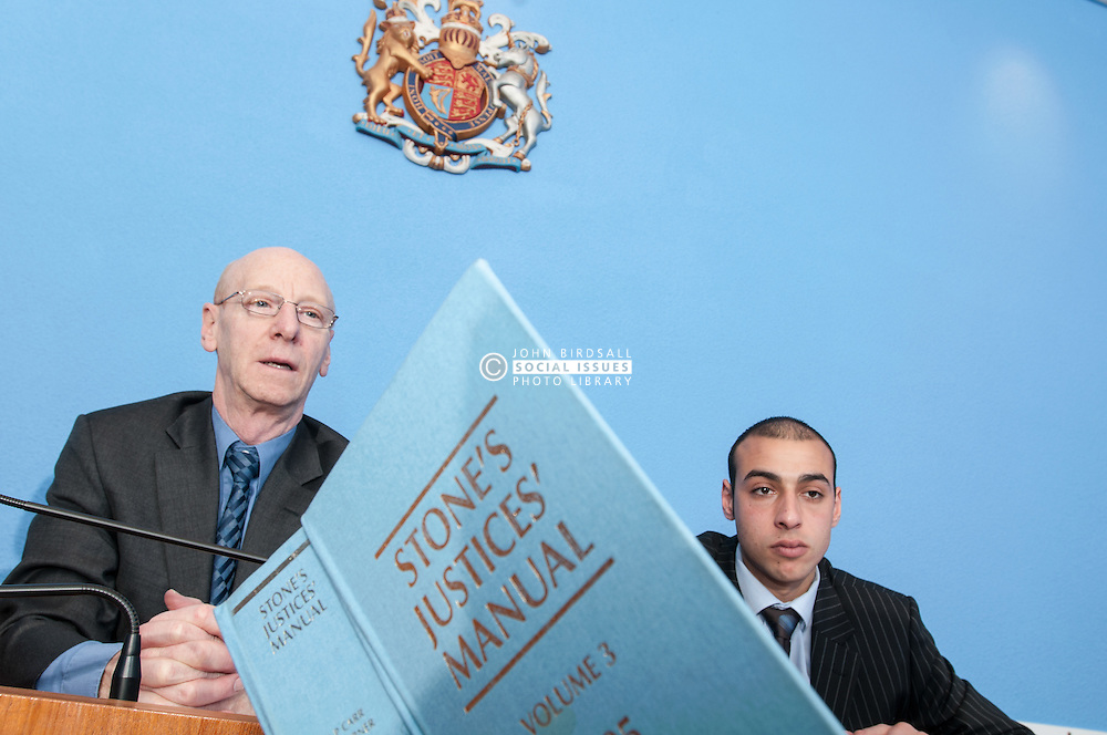 Clerk of the Court advises magistrates on a point of law, using Stones Justice Manual