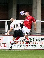 Photo: Mark Stephenson/Sportsbeat Images.<br /> Hereford United v Darlington. Coca Cola League 2. 03/11/2007.Darlington's Tommy Wright wins the ball from Robert Thelfall