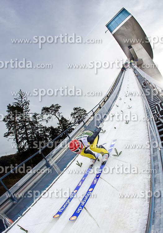 03.01.2014, Bergisel Schanze, Innsbruck, AUT, FIS Ski Sprung Weltcup, 62. Vierschanzentournee, Training, im Bild Andreas Wellinger (GER) // Andreas Wellinger (GER) during practice Jump of 62nd Four Hills Tournament of FIS Ski Jumping World Cup at the Bergisel Schanze, Innsbruck, <br /> Austria on 2014/01/03. EXPA Pictures © 2014, PhotoCredit: EXPA/ JFK