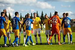 Players during football match between NK Bravo and NK Celje in 13th Round of Prva liga Telekom Slovenije 2019/20, on October 5, 2019 in ZAK stadium, Ljubljana, Slovenia. Photo by Vid Ponikvar / Sportida