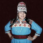 Rainy Silva, of the Laguna Pueblo tribe, at Willamette University's annual Social Pow Wow.