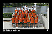 2004 Miami Hurricanes Swimming & Diving Team Photo