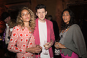 PHOEBE COLLINGS-JAMES; MATTHEW STONE; LOTTE ANDERSON, Sarah Lucas- Scream Daddio party hosted by Sadie Coles HQ and Gladstone Gallery at Palazzo Zeno. Venice. 6 May 2015.