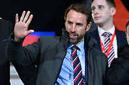 England manager Gareth Southgate in the crowd during the U21 International match between England and Germany at the Vitality Stadium, Bournemouth, England on 26 March 2019.