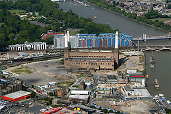 Image ©Licensed to i-Images Picture Agency. Aerial views. United Kingdom.<br /> Battersea Power station, London. Picture by i-Images