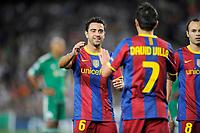 FOOTBALL - CHAMPIONS LEAGUE 2010/2011 - GROUP STAGE - GROUP D - FC BARCELONA v PANATHINAIKOS - 14/09/2010 - PHOTO JEAN MARIE HERVIO / DPPI - XAVI (BAR)