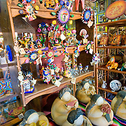 Local craft stores in Zihuatanejo, Mexico.