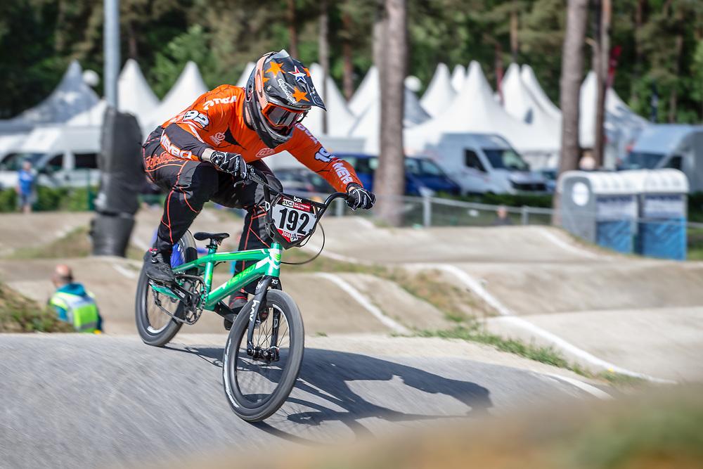 #192 (VAN DER BURG Dave) NED during practice at Round 5 of the 2018 UCI BMX Superscross World Cup in Zolder, Belgium