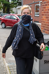 © Licensed to London News Pictures. 10/06/2021. Slough, UK. Marissa Scott, 55, at East Berkshire Magistrates Court, Slough to face a charge in relation to an incident during the funeral of The Duke of Edinburgh Prince Philip in Windsor, Berkshire. The incident took place shortly after the minute's silence at 3:00pm on Saturday 17/04/2021. Scott was charged by Thames Valley Police on Sunday 18/04/2021 with one count of causing harassment, alarm or distress under the Public Order Act. Photo credit: Peter Manning/LNP