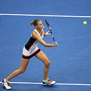 2016 U.S. Open - Day 13  Karolina Pliskova of the Czech in action against Angelique Kerber of Germany in the Women's Singles Final on Arthur Ashe Stadium on day thirteen of the 2016 US Open Tennis Tournament at the USTA Billie Jean King National Tennis Center on September 10, 2016 in Flushing, Queens, New York City.  (Photo by Tim Clayton/Corbis via Getty Images)