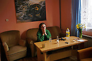 In the town of Oswiecim, southwest of Krakow, Pawel Pietrucha, 32, watches the news on TV Saturday morning. He learned Polish President Lech Kaczynski and many of the country's top leaders were killed in a plane crash on route to the site of a Soviet massacre of Polish officers during World War II. . April 10, 2010