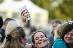 Party time as festivalgoers enjoy the entertainment at this year's sell-out Brentwood Festival. Essex 2015