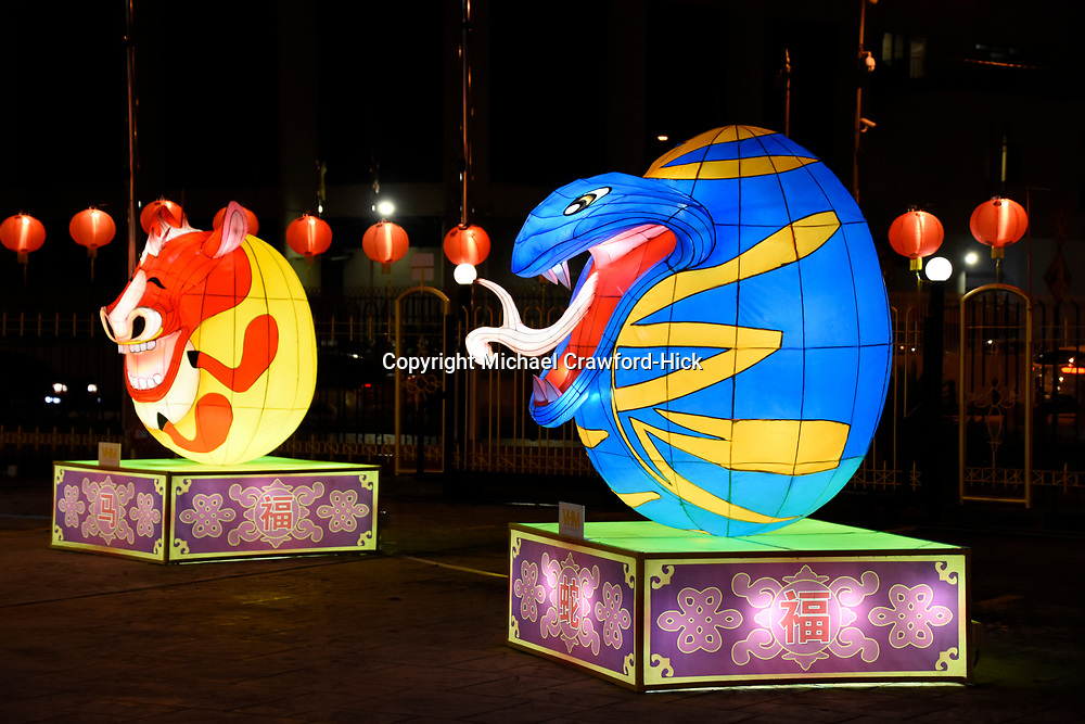 Horse and Snake Lantern at Chinese New Year