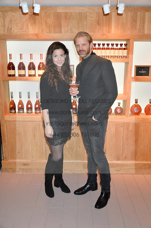 SHIRLEY LEIGH WOOD-OAKES and ALISTAIR GUY at the launch of La Maison Remy Martin based at 19 Greek Street, London on 24th November 2014.