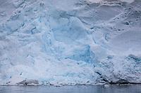Antarctic ice cliffs.