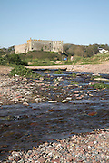 Manorbier castle, Pembrokeshire, Wales  a Norman castle dating back to its foundation in the twelfth century.