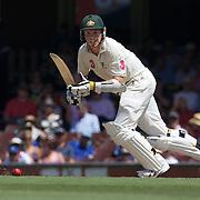 Peter Siddle batting during the Australia V Pakistan 2nd Cricket Test match at the Sydney Cricket Ground, Sydney, Australia, 6 January 2010. Photo Tim Clayton