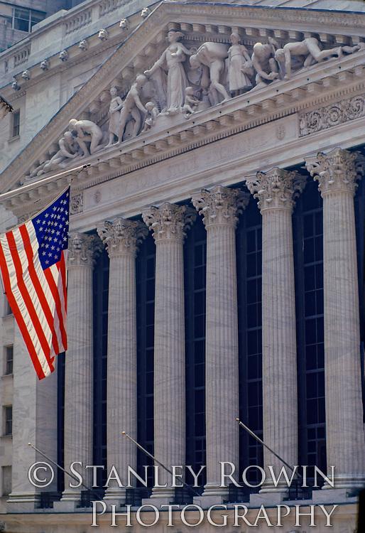 New York Stock Exchange, Wall Street, Vertical