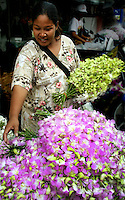 "Pak Khlong Talat or ""market at the mouth of the canal"" is a flower market in Bangkok that sells not only flowers, but fruits and vegetables as well. It is the primary flower market in Bangkok. The market accommodates both consumers and wholesalers and has a wide variety of customers. Many local florists visit the market in the early morning hours to stock their shops for the coming day."