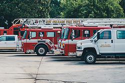 """THEMENBILD - Einsatzfahrzeuge des """"New Orleans Fire Department"""" (NOFD), aufgenommen am 14.08.2019, New Orleans, Vereinigte Staaten von Amerika // emergency vehicles of the """"New Orleans Fire Department"""" (NOFD), New Orleans, United States of America on 2019/08/14. EXPA Pictures © 2019, PhotoCredit: EXPA/ Florian Schroetter"""