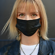 Kate White attend London Fashion Week SS19 street photography at the Strand, London, UK. 17 September 2018.