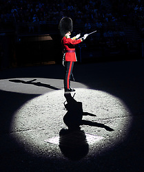 Edinburgh, Scotland, UK. 1 August, 2019. Preview opening night of the 2019 Royal Edinburgh Military Tattoo, performed on the esplanade at Edinburgh Castle. This is the Tattoo's 69th year and it runs from 2-24 August.