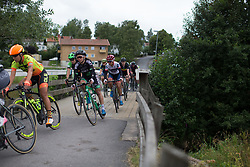 Ashleigh Moolmann-Pasio (RSA) of Cervélo-Bigla Cycling Team rides mid-pack  in the penultimate short lap of the Crescent Vargarda - a 152 km road race, starting and finishing in Vargarda on August 13, 2017, in Vastra Gotaland, Sweden. (Photo by Balint Hamvas/Velofocus.com)