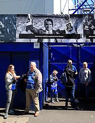 Fans stand beside a Roberto Martinez banner outside Goodison Park - Mandatory byline: Matt McNulty/JMP - 15/05/2016 - FOOTBALL - Goodison Park - Liverpool, England - Everton v Norwich City - Barclays Premier League