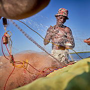 Fishermen in Beanjavilo, a village set among mangroves in the western coastal region of Madagascar. <br /> <br /> Madagascar is the world's forth largest island off the coast of east Africa.