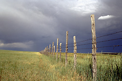 rustic fence on a ranch in New Mexico