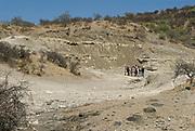 Frida Leakey Korongo site in Oldupai Gorge, Tanzania, where Marey leaky forund remains of Paranthropus boisei in 1959