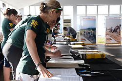 Volunteers getting prepared for the influx of riders during the pre race events held at the V&A Waterfront in Cape Town prior to the start of the 2017 Absa Cape Epic Mountain Bike stage race held in the Western Cape, South Africa between the 19th March and the 26th March 2017<br /> <br /> Photo by Emma Hill/Cape Epic/SPORTZPICS<br /> <br /> PLEASE ENSURE THE APPROPRIATE CREDIT IS GIVEN TO THE PHOTOGRAPHER AND SPORTZPICS ALONG WITH THE ABSA CAPE EPIC<br /> <br /> ace2016