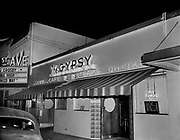 "Ackroyd 02298-1. ""Oregon Sportservice Inc. night exterior of The Gypsy Restaurant. June 28, 1950"" (612 NW 21st, before their move across the street)"