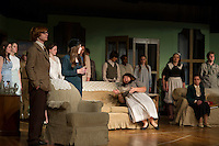 """Agatha Christie's  """"And Then There Were None...."""" at Laconia High School's dress rehearsal January 9, 2013."""